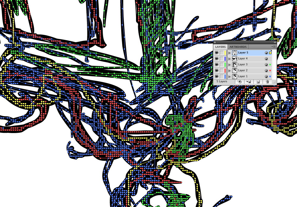 Detail of how the sketch is imported into Illustrator