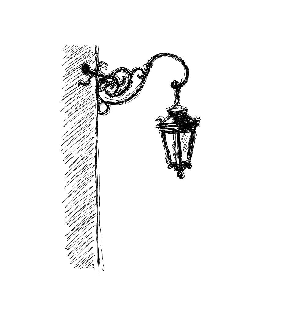 The Sketch rendered in Illustrator