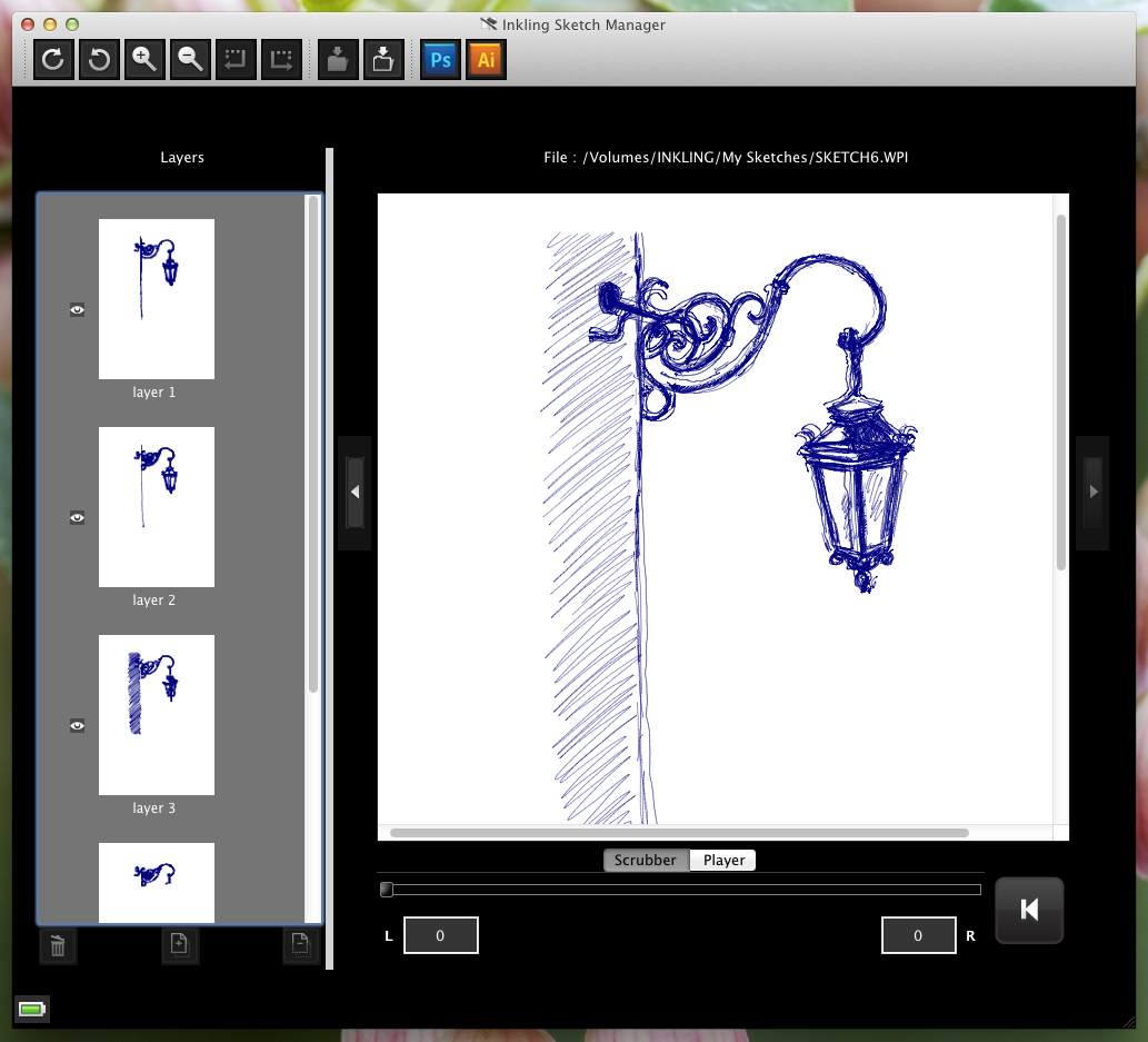 The Sketch in Wacom's Sketch Manager